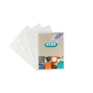 ELBA A4 PUNCHED POCKETS 50 MICRON - PACK OF 100