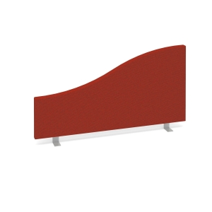 DESK MOUNTED ACOUSTIC SCREEN 500/350 X 800MM RED