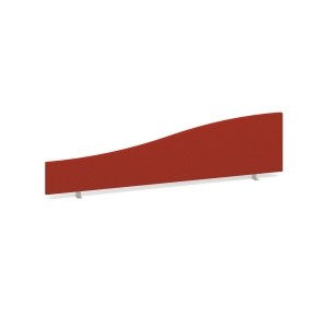 DESK MOUNTED ACOUSTIC SCREEN 500/350 X 1600MM RED