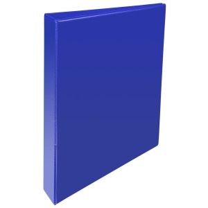 KREACOVER PP RING BINDER, 32X27.5CM, 2 D-RINGS, 47MM SPINE - BLUE