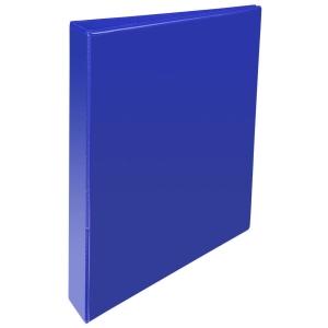 KREACOVER PP RING BINDER, 32X29CM, 4 D-RINGS, 75MM SPINE - BLUE