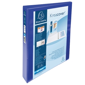 KREACOVER PP RING BINDER, 32X27.5CM, 4 D-RINGS, 47MM SPINE - BLUE