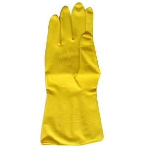 RUBBER GLOVES LARGE YELLOW (PACK OF 12)