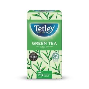 TETLEY PURE GREEN TEA BAGS - PACK OF 25