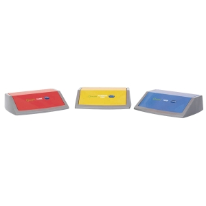 ADDIS ASSORTED RECYCLING BIN LIDS - PACK OF 3