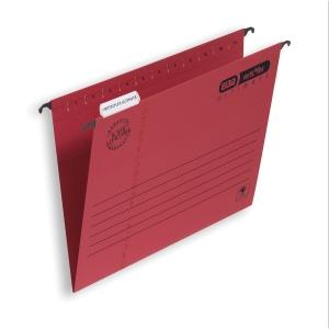 ELBA VERTICFLEX ULTIMATE RED FOOLSCAP SUSPENSION FILES V BASE - BOX OF 25