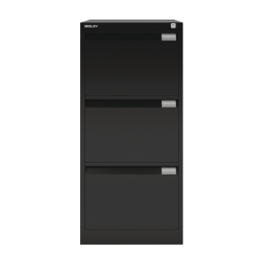 3dd5bb257b2 BISLEY BLACK 3-DRAWER FOOLSCAP FILING CABINET