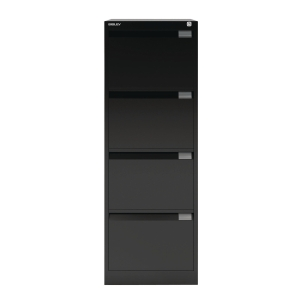 BISLEY BLACK 4-DRAWER FOOLSCAP FILING CABINET