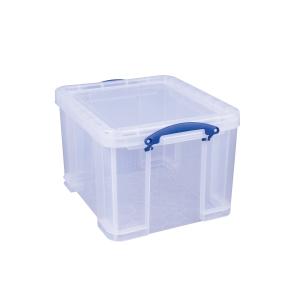 REALLY USEFUL BOX CLEAR 35 LITRE STORAGE BOX H310 X W390 X D480MM
