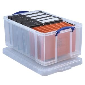 REALLY USEFUL BOX CLEAR 64 LITRE STORAGE BOX H310 X W440 X D710MM