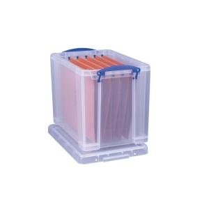 REALLY USEFUL BOX CLEAR 19 LITRE STORAGE BOX H290 X W255 X D395MM