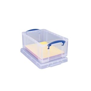 REALLY USEFUL BOX CLEAR 9 LITRE STORAGE BOX H155 X W255 X D395MM