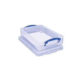 REALLY USEFUL BOX CLEAR 4 LITRE STORAGE BOX H88 X W255 X D395MM