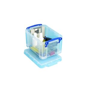REALLY USEFUL BOX CLEAR 1.6 LITRE STORAGE BOX H110 X W135 X D195MM