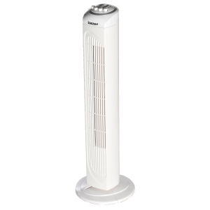 30 INCH WHITE TOWER FAN WITH 2 HOUR TIMER