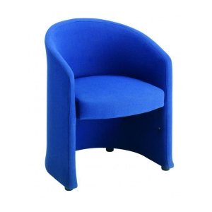 BLUE RECEPTION TUB CHAIR