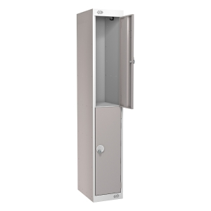 LOCKER 1800H x 300W x 450D, 2-DOOR, grey