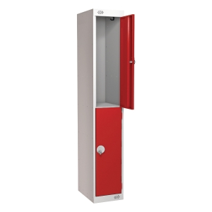 LOCKER 1800H x 300W x 450D, 2-DOOR, red