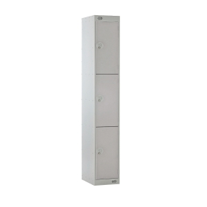 LOCKER 1800H x 300W x 450D, 3-DOOR, grey