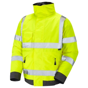 HIGH VISIBILITY BOMBER JACKET YELLOW LARGE
