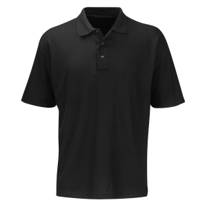 POLO SHIRT 240GSM BLACK LARGE