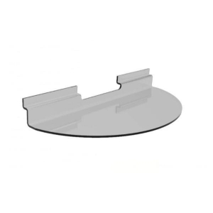 SEMI-CIRCULAR SHELF 400X200 CLEAR BARNARDOS