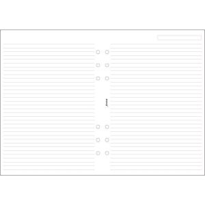 FILOFAX A5 DESK ORGANISER REFILL INSERTS - WHITE RULED PAPER
