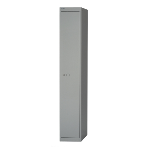 BISLEY STEEL LOCKER WITH SINGLE COMPARTMENT H1802 X W305 X D457MM - GREY