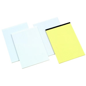 OFFICE WHITE A4 MEMO PADS (NARROW RULED) - PACK OF 6 (6 X 80 SHEETS)