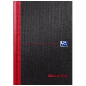 BLACK N  RED FEINT RULED BOOK A5