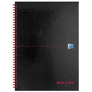 BLACK N  RED WHITE A4 WIREBOUND NOTEBOOK (RULED) - 70 SHEET BOOK