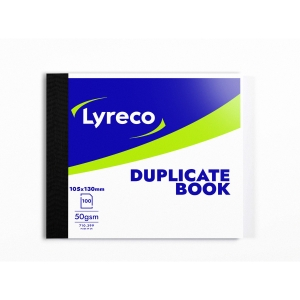 LYRECO 130 X 105MM DUPLICATE BOOK - 100 NUMBERED SHEETS