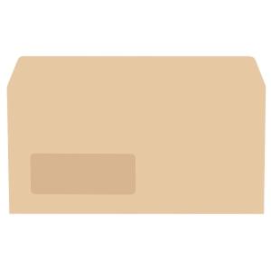 LYRECO manilla DL GUMMED WINDOW ENVELOPES 70GSM - BOX OF 1000