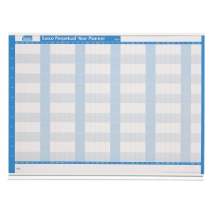 SASCO PERPETUAL MOUNTED YEAR PLANNER 914 X 610MM