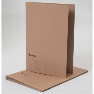 LYRECO BUFF FOOLSCAP SQUARE CUT FOLDERS HEAVY WEIGHT 270GSM - PACK OF 100