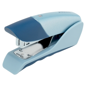 REXEL GAZELLE BLUE NO.26/6 PLASTIC HALF STRIP STAPLER - 25 SHEET CAPACITY