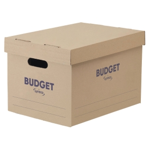 LYRECO BUDGET WHITE STORAGE BOX H252 X W284 X D383MM - PACK OF 10