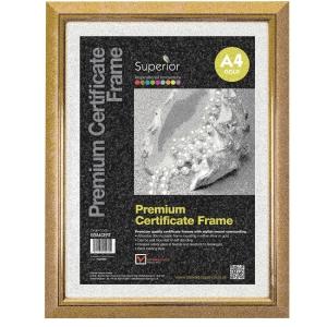 PREMIUM CERTIFICATE FRAMES GOLD SIZE A4