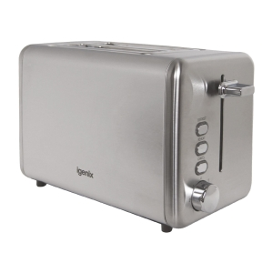 STAINLESS STEEL 2 SLICE WIDE SLOT TOASTER