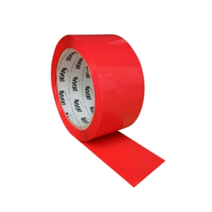 COLOURED PACKING TAPE - RED - PACK OF 6