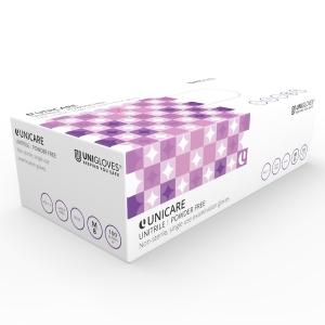 UNITRILE UT02 NITRILE/VINYL POWDERFREE DISPOSABE GLOVES BLUE MEDIUM (BOX OF 100)