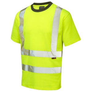 LEO TO1-Y HIGH VISIBILITY T-SHIRT YELLOW LARGE