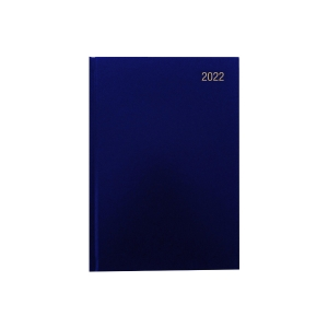 LYRECO A5 APPOINTMENT DIARY BLUE - PAGE A DAY