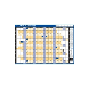 LYRECO UNMOUNTED LANDSCAPE YEAR PLANNER - 915 X 610MM