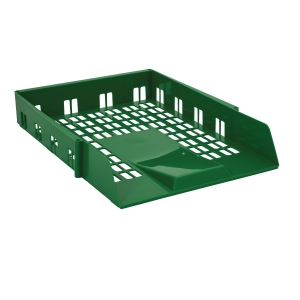 CONTRACT A4/FOOLSCAP GREEN LETTER TRAY
