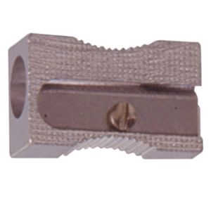 PENCIL SHARPENER - METAL WITH SINGLE WEDGE