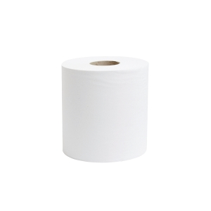 WHITE 1 PLY 190MMX300M CENTREFEED ROLL 1 PLY - PACK OF 6
