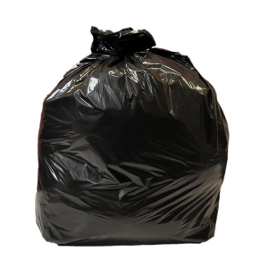 BLACK 20 X 34 X 38 INCH 90 LITRE HEAVY DUTY WASTE SACK - PACK OF 200
