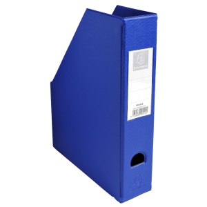 EXACOMPTA PVC MAGAZINE FILE, 70MM SPINE - DARK BLUE