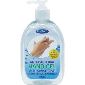 ECOCLENZ ANTI-BACTERIAL HAND GEL 500ML
